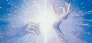 Reiki healing hands, accepting energy