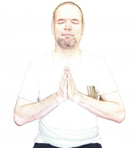 Gassho prayer position in Reiki